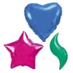 Фольгированные шары звезды, сердца, круги, месяцы без рисунка. Шары сферы 3D из фольги