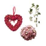 Венки и гирлянды из искусственных цветов. Хвойные искусственные венки и гирлянды