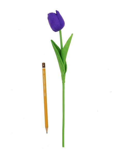 Тюльпан 33 см силикон цвет фиолетовый  1/10