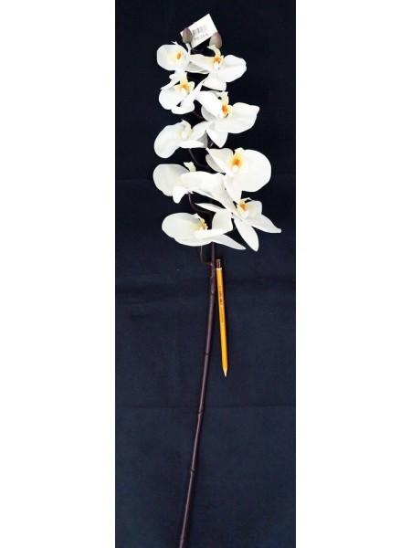 Орхидея Фаленопсис 97 см силикон цвет белый HS-35-6
