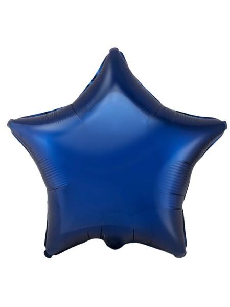 """Фольга шар Звезда 18""""/45 см темно-синий 1шт Испания Flexmetal"""