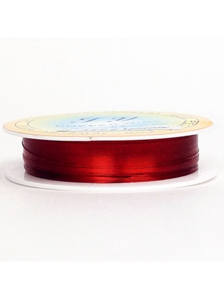 Проволока 0,3 мм х 20 м цвет красный