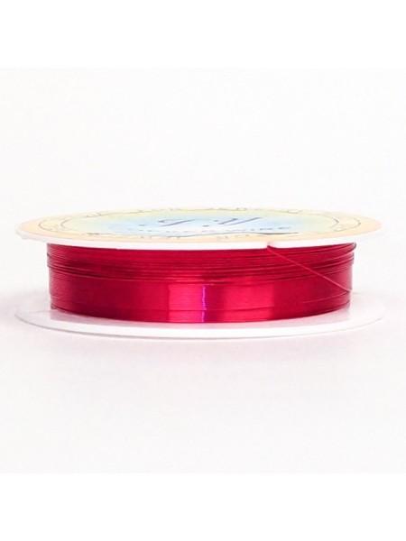 Проволока 0,3 мм х 20 м цвет фуксия