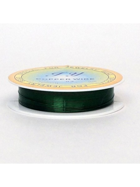 Проволока 0,3 мм х 20 м цвет зеленый