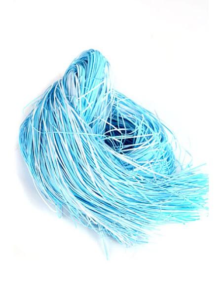 Наполнитель из бумаги крафт цветной 50 г цвет бело-голубой 06