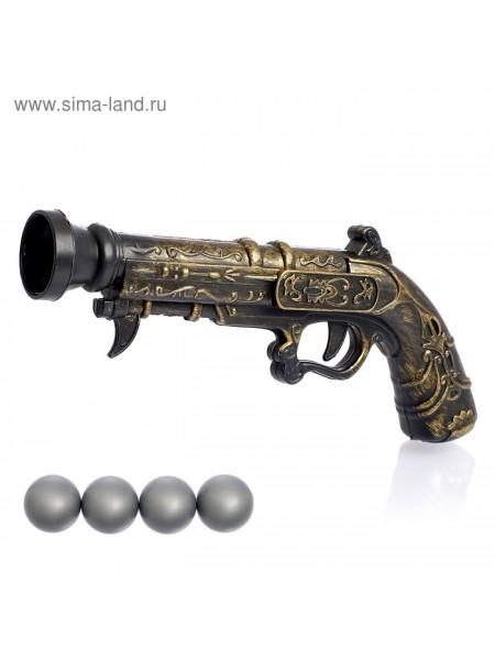 Пистолет Пиратский мушкет стреляет шариками