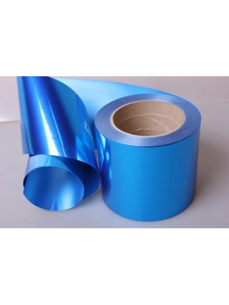 Лента металл 10 см х 50 ярд цвет синий М1044