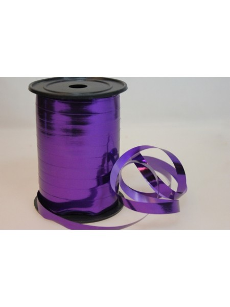 Лента металл 1 см х 100 ярд цвет фиолетовый М193
