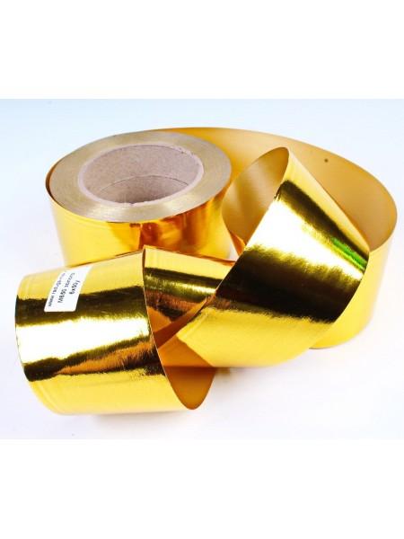 Лента металл 6 см х 50 ярд цвет золото М650