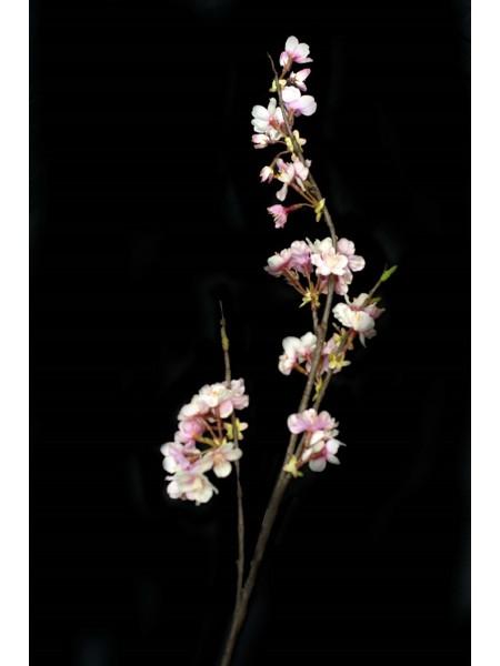 Ветка искусственная Вишня 76см цв.Розовый