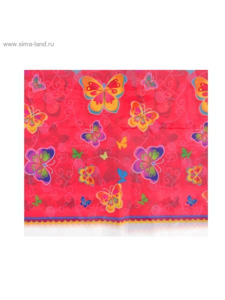 Скатерть полиэтилен Бабочки 108 х 180 см