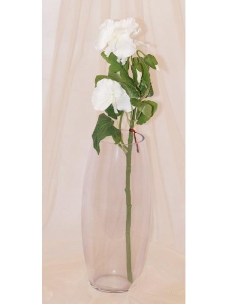 Анютины глазки цветок искусственный высота 45 см цвет Белый