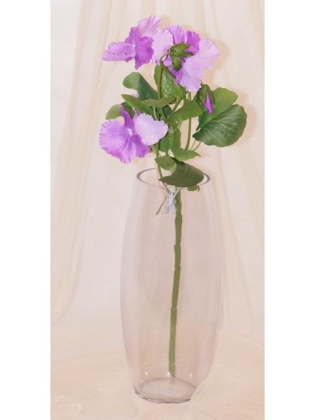 Анютины глазки цветок искусственный высота 45 см цвет Сиреневый
