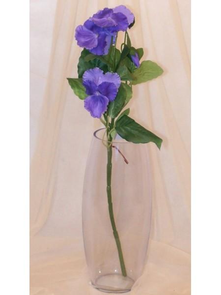 Анютины глазки цветок искусственный высота 45 см цвет Фиолетовый