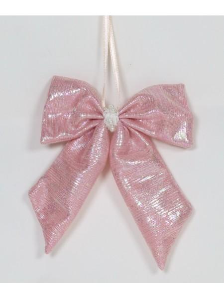 Бант 15 х12 см цвет розовый