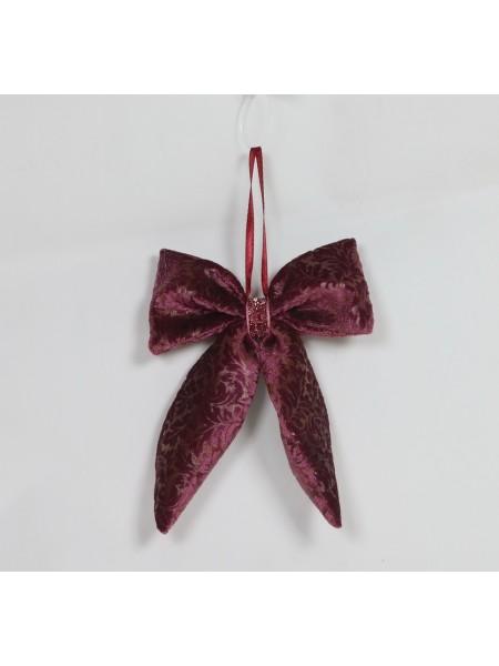 Бант 15 х12 см цвет темно-розовый