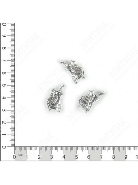 Шарм наборный Ангелочек металл серебряный набор 3 шт
