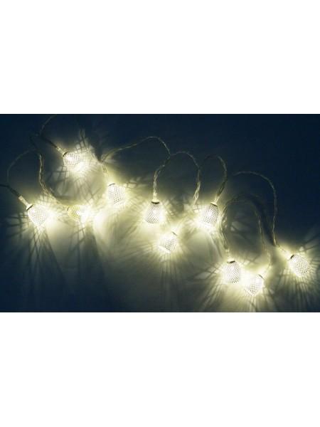 Электрогирлянда Колокольчики металл d=2 см h=3 см L=2 м LED цвет серебро HS-18-16
