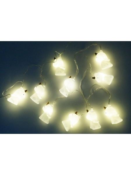 Электрогирлянда Единороги пластик h=5,5 см L=2 м LED цвет белый HS-18-13