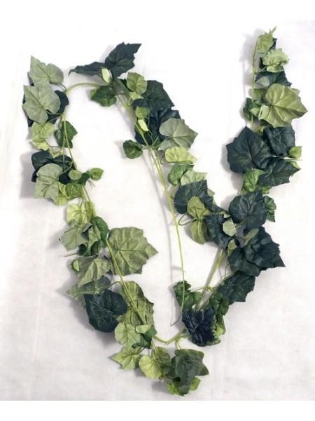Гирлянда виноградные листья 190 см