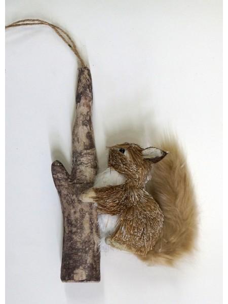 Белочка на ветке 12 х 8 х 26 см