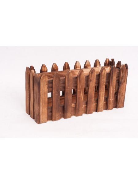Ящик-заборчик деревянный 9 х 14 х 30 см
