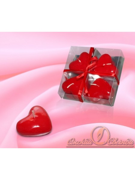 Набор Сердечки красные свеча