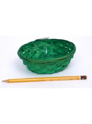 Плошка плетеная бамбук D15 х H4 цвет зеленый