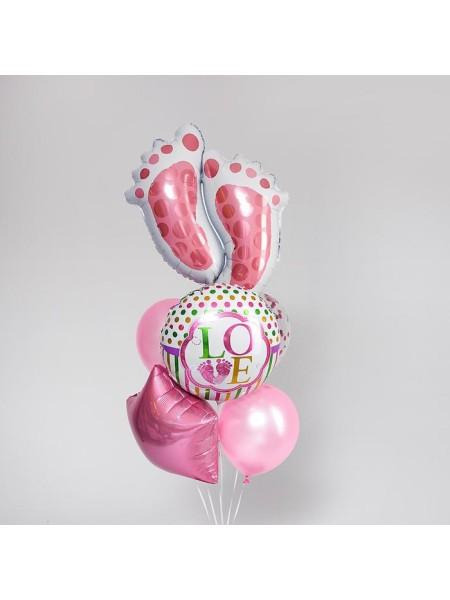 Набор шаров Рождение девочки фольга набор 7 шт