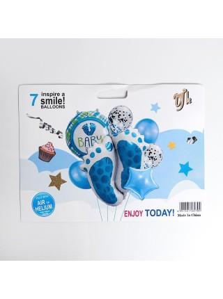 Набор шаров Рождение мальчика фольга набор 7 шт