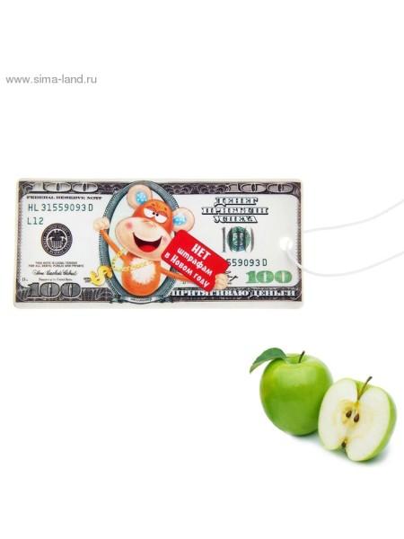 Ароматизатор для авто 9,7х9,5 см Нет штрафам символ года - зеленое яблоко