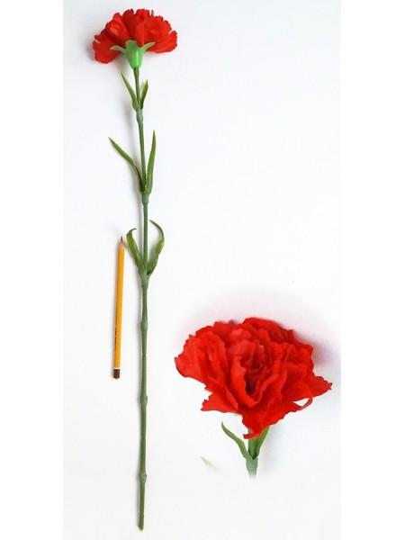 Гвоздика 65 см силикон цвет красный  HS-37-2