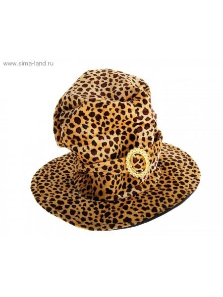 Шляпа цилиндр Леопард 30 х 40 х 40