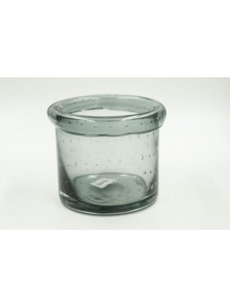 Ваза стекло 12 х 12 см цвет черный 620/115