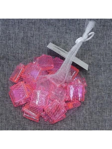 Наполнитель для флористики Армани упаковка 30 шт стекло цвет розовый H-40 D-32 мм
