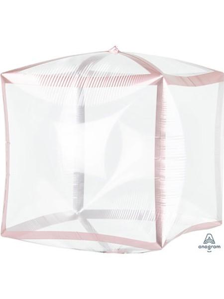 Фольга шар 3D Куб б/рис 15