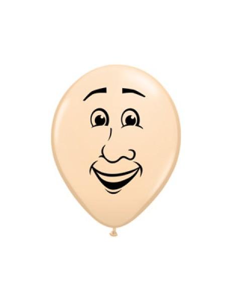 """5""""шар воздушный с рисунком Лицо мужское"""
