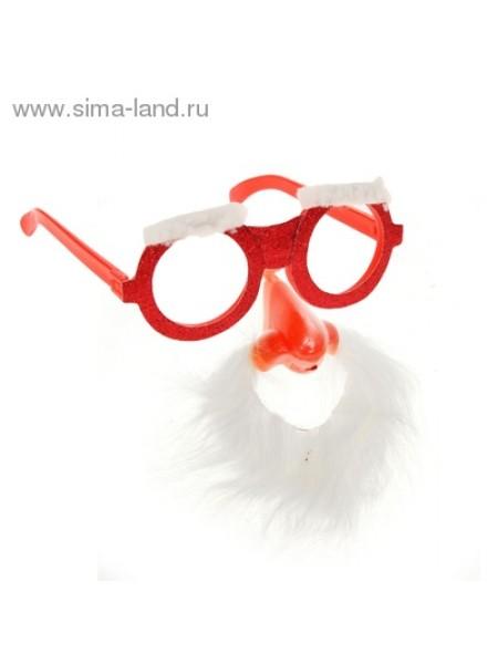 Очки Дед Мороз большой нос