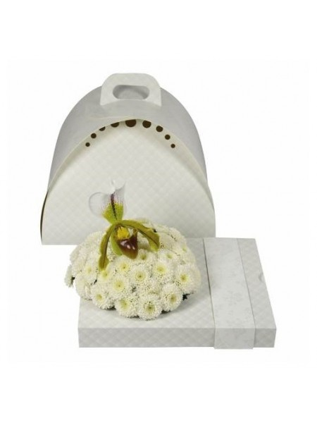 Коробка подарочная в комплекте с контейнером цвет белый