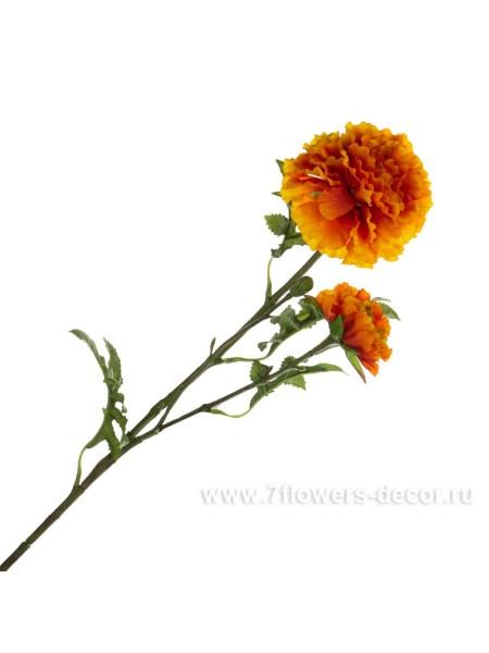 Бархатцы 64 см цветок искусственный цвет рыжий ткань KBNAMU4393-A1A