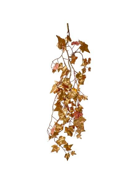 Плющ ветка 85 см цвет золото 19449