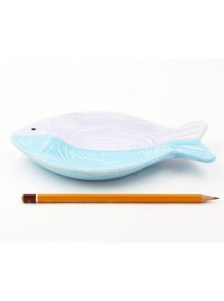 Панно-тарелка Рыба 20 х 12 см гипс цвет сиренево-голубой HS 44-3