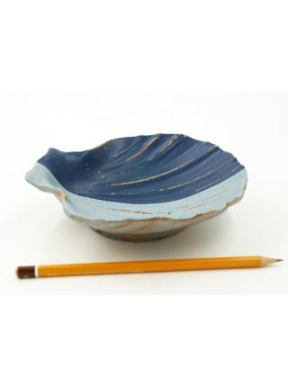 Панно-тарелка Ракушка 16,5 х 16,5 см дерево цвет сине-голубой HS 44-2