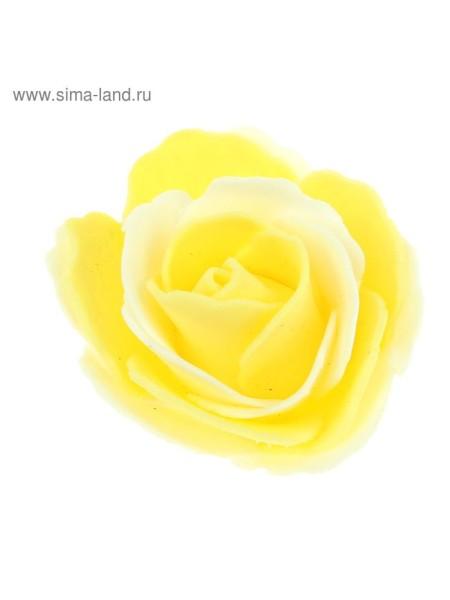 Декор для творчества Роза двухцветная d=5,5 см МИКС упак 20 шт