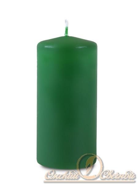 Пеньковая 50 х115 темно-зеленая свеча