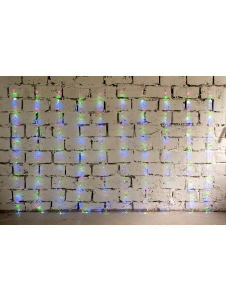 Электрогирлянда занавес Бегущие огоньки 2 м х 3 м 320 лампочек цв мульти
