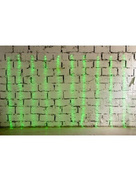 Электрогирлянда занавес Бегущие огоньки 2 м х 3 м 500 лампочек цв Зеленый