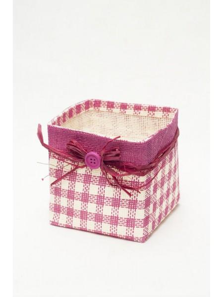 Кашпо декоративное 13,5*13,5*13,5см цв.розовый