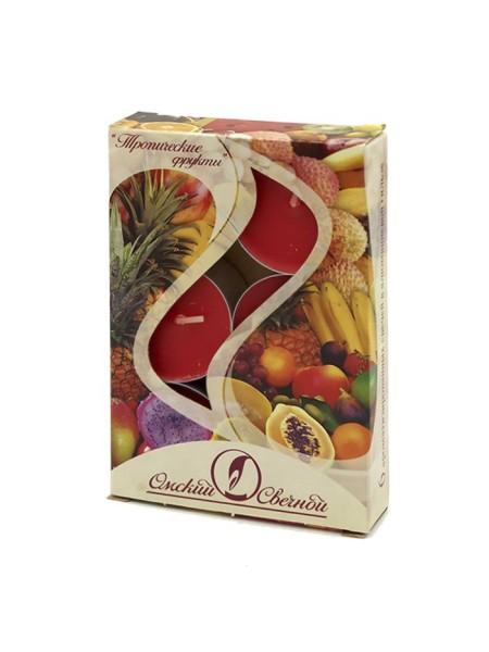 Свеча чайная 12 гр х 6 шт Тропические фрукты ароматизированная