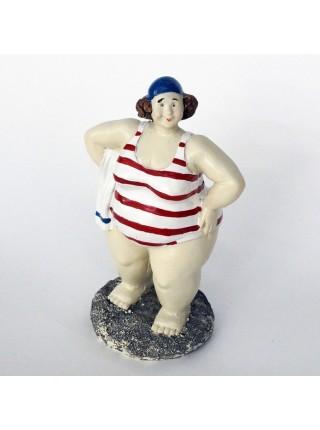 Дама на пляже статуэтка 15см
